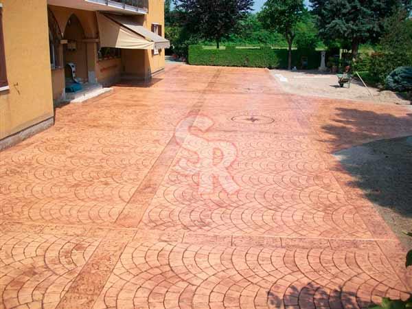 Hormig n impreso suelo rustic - Hormigon impreso madera ...