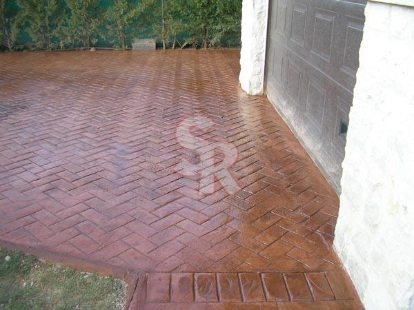 Hormig n impreso suelo rustic for Productos para hormigon impreso