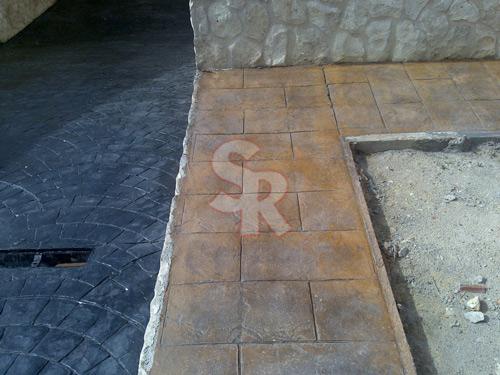 hormig n impreso suelo rustic